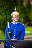 Kunglig personvakterna i Stockholm, den huvudsakliga vakten i den Stockholm slotten bärs ut av enheter av svensk krigsmakt Arkivfoton
