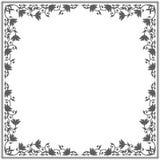 Kunglig ram med den blom- prydnaden Royaltyfria Bilder