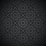 Kunglig seamless svart wallpaper Royaltyfri Fotografi