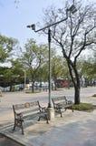 Kunglig sikt för PlazaSanam Luang gata i Thailand Arkivbilder