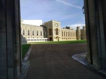 kunglig sikt f?r Windsor slottsida F?renade kungariket, arkivfoto