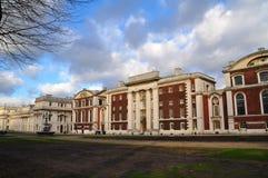 Kunglig sjö- högskola i Greenwich arkivbild