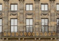 Kunglig slott Amsterdam för balkong Royaltyfri Bild