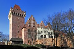 Kunglig slott av hertigen Przemysl II i Poznan, Polen Royaltyfria Foton