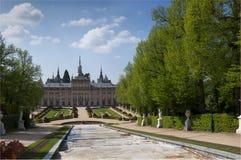 Kunglig slott av La Granja de San Ildefonso Arkivfoton