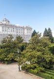Kunglig slott av Madrid Fotografering för Bildbyråer