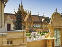 Kunglig slott, Cambodja Arkivfoto