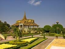 Kunglig slott, Cambodja Royaltyfria Bilder