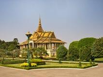 Kunglig slott, Cambodja Arkivbilder