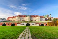 Kunglig slott, en berömd gränsmärke i den gamla staden av Warszawa Arkivbild