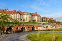 Kunglig slott, en berömd gränsmärke i den gamla staden av Warszawa Royaltyfria Bilder