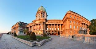 Kunglig slott i Budapest, panorama Royaltyfria Bilder
