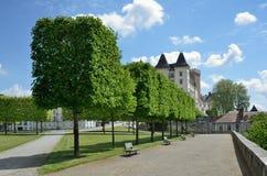 Kunglig slott i den franska staden Pau Arkivfoton