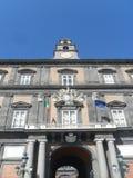 Kunglig slott i Naples Arkivfoton