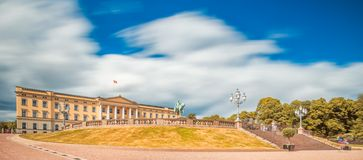 Kunglig slott i Oslo, Norge Arkivbilder