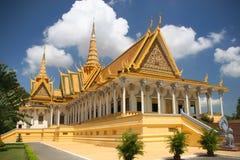 Kunglig slott i Phnom Penh Arkivbilder
