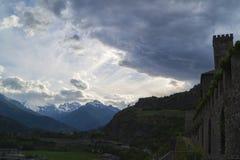 Kunglig slott i Sarre, Aosta Royaltyfri Fotografi