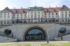 Kunglig slott i Warsaw Arkivbild