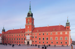 Kunglig slott i Warszawa, Polen Arkivbild