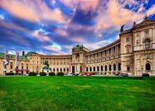 Kunglig slott i Wien Arkivfoto