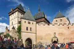 Kunglig slott Karlstejn, Tjeckien Royaltyfria Bilder