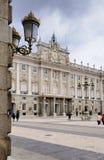 Kunglig slott, Madrid Royaltyfria Foton