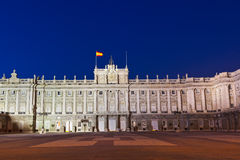 Kunglig slott på Madrid Spanien Arkivbilder