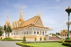 Kunglig slott. Phnom Penh Royaltyfri Fotografi