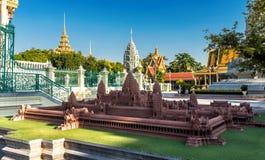 Kunglig slott, Phnom Penh, Cambodja Arkivfoton