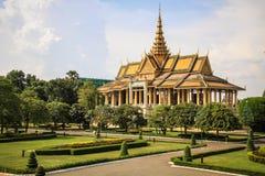 Kunglig slott, Phnom Penh, Cambodja Arkivbilder