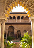 Kunglig slott, verklig Alcazar, av Seville Royaltyfri Foto