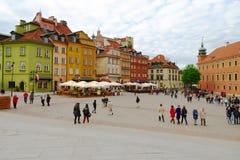 Kunglig slottfyrkant i Warsaw's den gamla staden, Polen Royaltyfri Foto