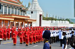 kunglig soldatstand för begravnings- marsch Arkivbilder