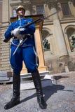kunglig svensk traditionell likformig för guard Arkivfoto