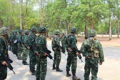 Kunglig thai armé Fotografering för Bildbyråer