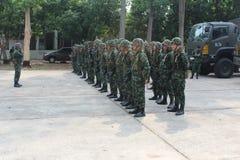 Kunglig thai armé Arkivfoton