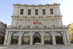Kunglig theatre, Madrid arkivfoton