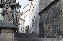 Kunglig trappa i Prague Fotografering för Bildbyråer