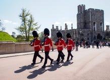 Kunglig vakt i den Windsor slotten, London, UK Royaltyfri Fotografi