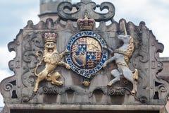 Kunglig vapensköld Cambridge England Arkivbilder