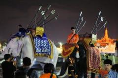 Kunglig vit elefant på thailändska konungs födelsedag, a Arkivfoto