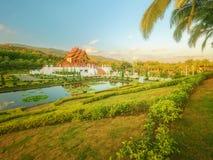 Kungliga Flora Ratchaphruek Park, Chiang Mai, Thailand Arkivfoto