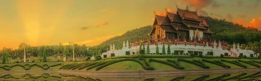 Kungliga Flora Ratchaphruek Park, Chiang Mai, Thailand Arkivfoton