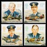 Kungliga flygvapenportostämplar Arkivbilder