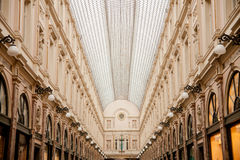 Kungliga gallerier av helgonet Hubert i Bruxelles Royaltyfri Fotografi
