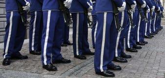 Kungliga guards, gammala Stockholm (Gamla Stan), Sverige Fotografering för Bildbyråer