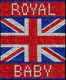 Kungliga personen behandla som ett barn mosaiken Royaltyfria Bilder