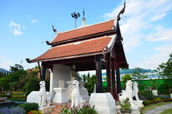 Kungliga personen parkerar den Rajapruek chiangmaien Thailand Arkivbilder