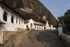 Kungliga personen vaggar templet, Dambulla, Sri Lanka Royaltyfri Fotografi