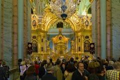 Kungliga personer utfärda utegångsförbud för i Peter och Paul Cathedral fästning paul peter Arkivfoto